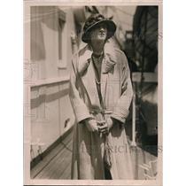 1922 Press Photo Isabelle Rockefeller on the Mauretania