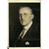 1923 Press Photo Dr. Glenn Levin Swiggett, Advisory Council chairman