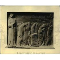 1919 Press Photo Bronze tablet for Cardinal Mercier by Onorio Ruetelo