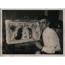 1922 Press Photo Art honor won by Italian Antonio Di Filippo immigrant