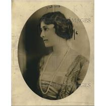 1919 Press Photo Mrs CC Rumsay, head of the Community council of New York City