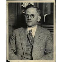 1921 Press Photo District Attorney H. B. Churchill Lake County California