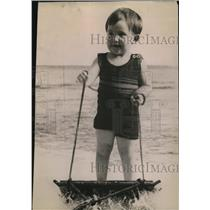 1922 Press Photo Miss Joyce Casey with a Aquaplane in the San Diego Bay