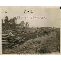 1920 Press Photo The construction of houses in Cantonment City
