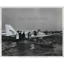 1965 Press Photo People Boarding a TAG Airliner
