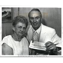 1987 Press Photo Walter Frey Sr and His Wife with their Delta Airlines Ticket