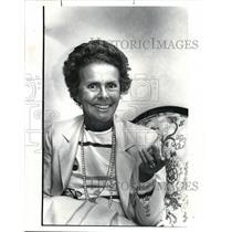 1985 Press Photo Eileen Ford head of modeling Agency