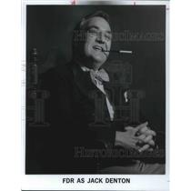 1980 Press Photo Jack Denton Silent Film Actor Director
