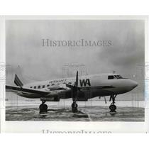 1982 Press Photo Wright Airlines Plane