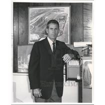 1960 Press Photo John A. Doyle Jr. Airport Commissioner