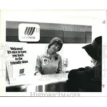 1979 Press Photo Miss Keville Glozer and Miss Polly Holyoke at United Counter