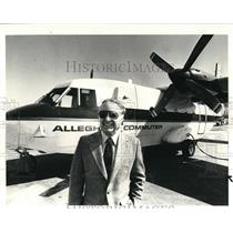 1983 Press Photo Commuter plane to Mansfield and Calion William Fischer