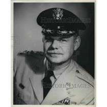1954 Press Photo Lieutenat Gen. Leon W. Johnson of the Continental Air Command