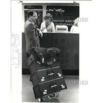 1985 Press Photo The last plane out for Wright Airlines