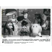 1991 Press Photo Characters from Toy Story