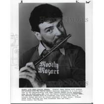 1982 Press Photo James Galway Classical Flute Player Mostly Mozart Festival