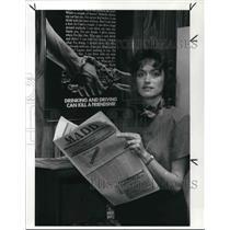 1988 Press Photo Phyllis Lucasa, director of Medina CYs. Madd