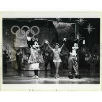 1986 Press Photo Linda Fratuanne In Walt Disneys Magic Kingdom on Ice