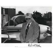 1989 Press Photo George W. Kirkendall, Early Aviator