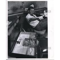 1971 Press Photo Stu Feldstein Plain Dealer Reporter - cva12516