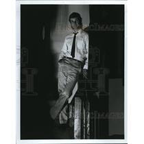 1983 Press Photo Randy Davidson WBLG radio DJ in Cleveland - cva11293
