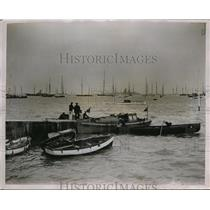 1928 Press Photo Cowes Isle of Wight annual regatta