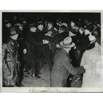 1934 Press Photo Riot Police Camille Chautemps's Cabinet Germain Communists