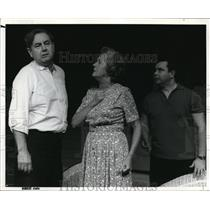 1965 Press Photo Frances Drenkhan, Eddy Halas & other in stage play