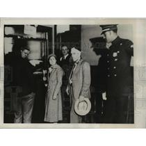 1932 Press Photo Mrs.Claire Toll &Giovanni Dammico were arrested during the riot