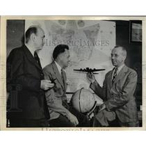1942 Press Photo Dr. Hermann Cooper, Dr. Donnal Smith & Dr. Roland H. Spaulding