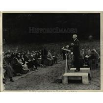 1933 Press Photo Governor A Harry Moore of NJ Speaks at Dedication of M L Schiff