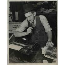1938 Press Photo Omero C Catan's First Story written