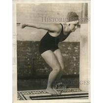 1923 Press Photo Olive Holland of New England Swimming Luminary - nes23736