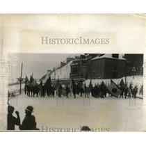 1927 Press Photo Parade of the Nations contestants in Quebec, Canada