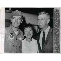 1962 Press Photo Andrews Air Force Base Air Force Major Bob White who reached a