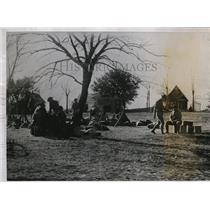1935 Press Photo La Natl Guard troops at a camp near state capital Baton Rouge