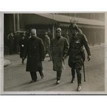 1930 Press Photo Fazl ul Hag, one of the delegates with Captain Raja