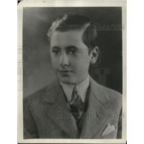 1930 Press Photo Edward Axt, returned from the coast after two years of absence
