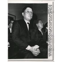 1963 Press Photo Wash DC Teamster Pres James R Hoffa at HEL committee