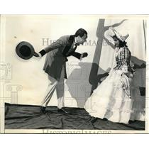 1940 Press Photo Miami Fla Mr & Mrs Lowther in play Blossom Time