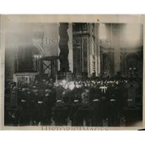 1922 Press Photo Funeral of Pope Benedict at St. Peter's Cathedral.