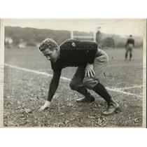 1925 Photo Yale full-back Daniel Allen assumes his three-point stance