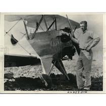 1938 Press Photo Herman Schapansky, Flying Farmer of Custer County, Oklahoma