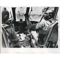 1966 Press Photo Prime Recovery Helicopter liftoff during practice Mission.