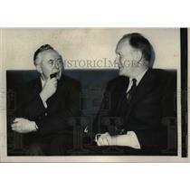 1963 Press Photo British Labor Party Harold Wilson & US Treas Douglas Dillon