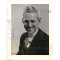 1931 Press Photo Kelvin Keech, NBC's announcer at NBC studios