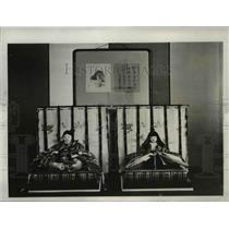 1932 Press Photo Dolls for Japanese Emperor's daughter by Guilo Co