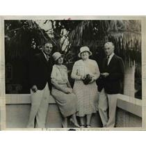 1932 Press Photo Mr. and Mrs. F. Chauvaunes Ogden and Mr. and Mrs. Sewell Ford