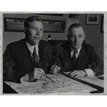 1935 Press Photo Aviators Gilbert E. Stoll, James C. Prosser of Cleveland Ohio