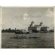 1930 Press Photo Outboard Contestant boat race held at Lake Worth Pal, Beach Fla